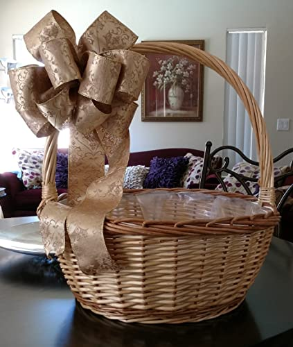 gold tapestry bow free shipping christmas gift bow gift topper gift bow - Christmas Gift Baskets Free Shipping