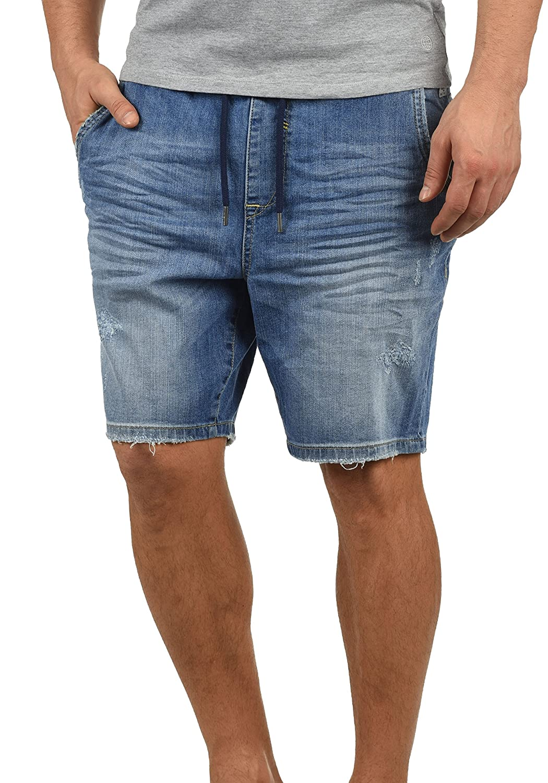TALLA S. Blend Demo Pantalón Corto Vaqueros para Hombre Elástico Regular-Fit
