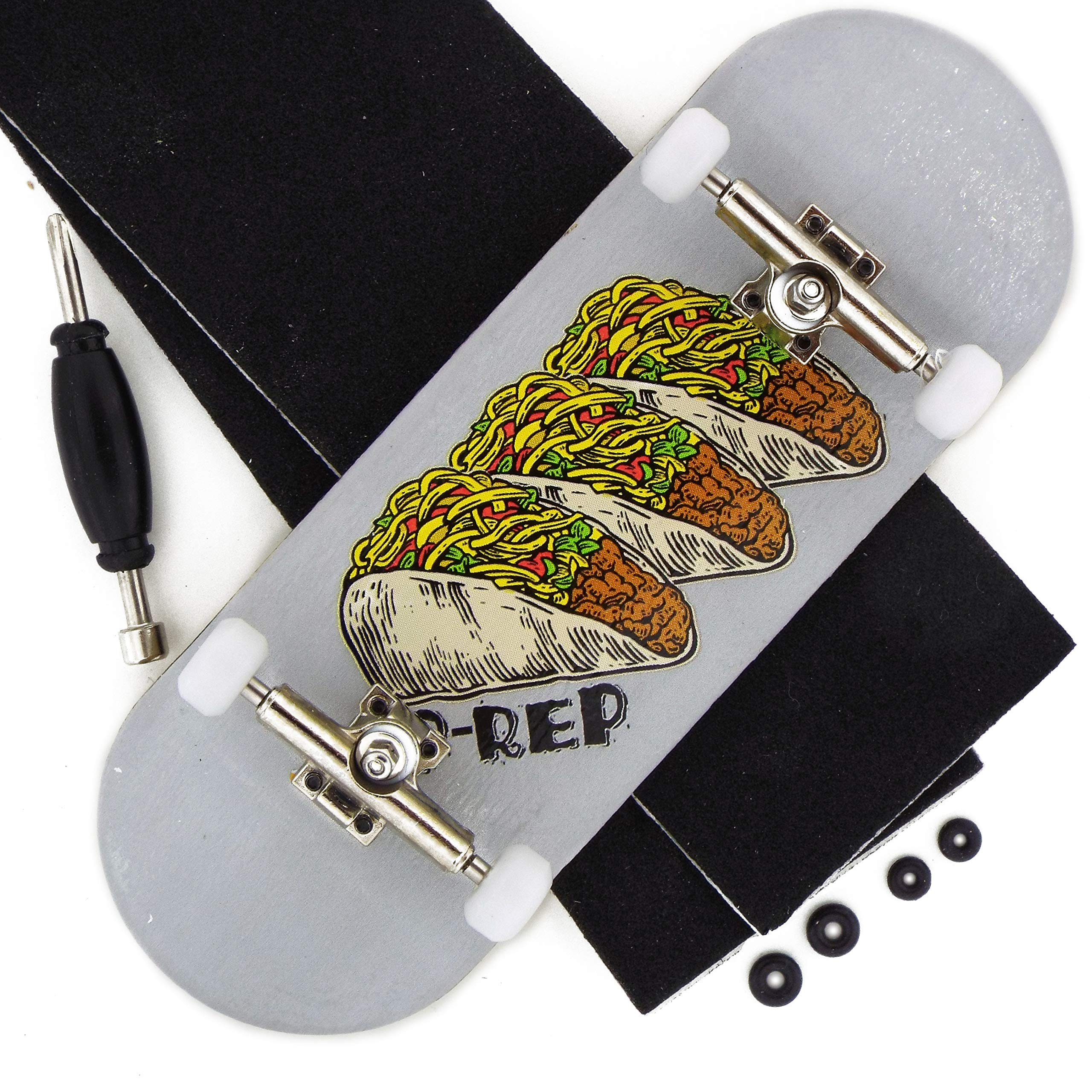 Peoples Republic Pro Complete Wooden Fingerboard 34mm x 100mm - Tres Tacos