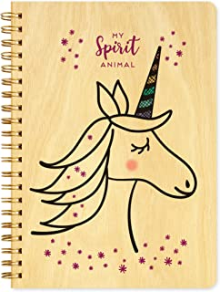 product image for Unicorn Journal with Real Wood Covers