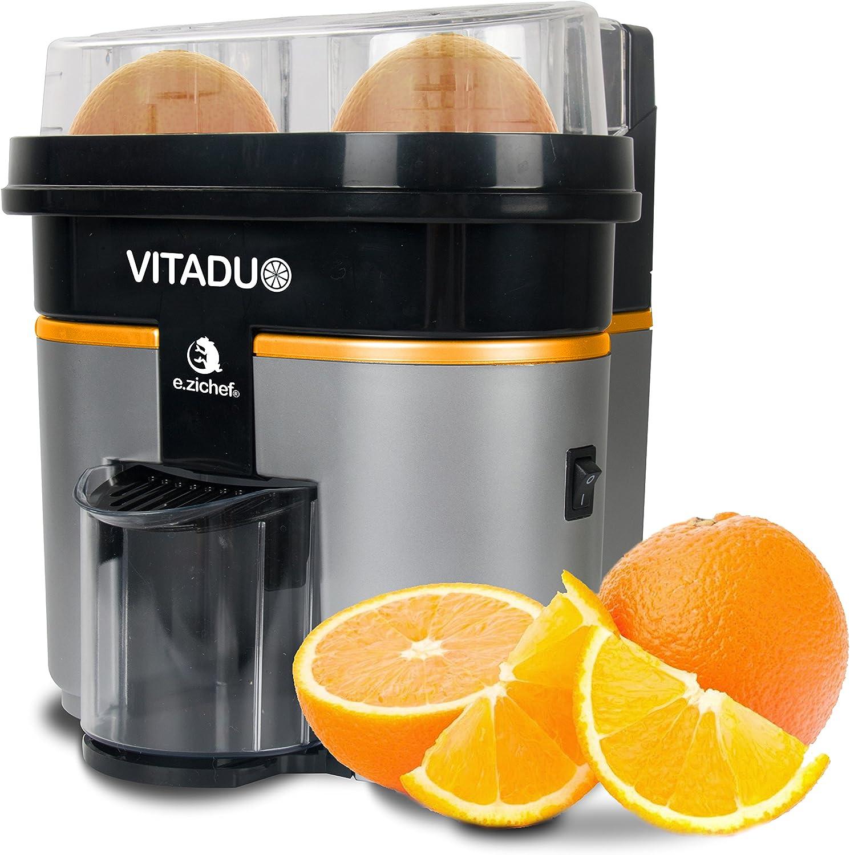 Presse agrume électrique vitaduo noir orange Ezichef | La