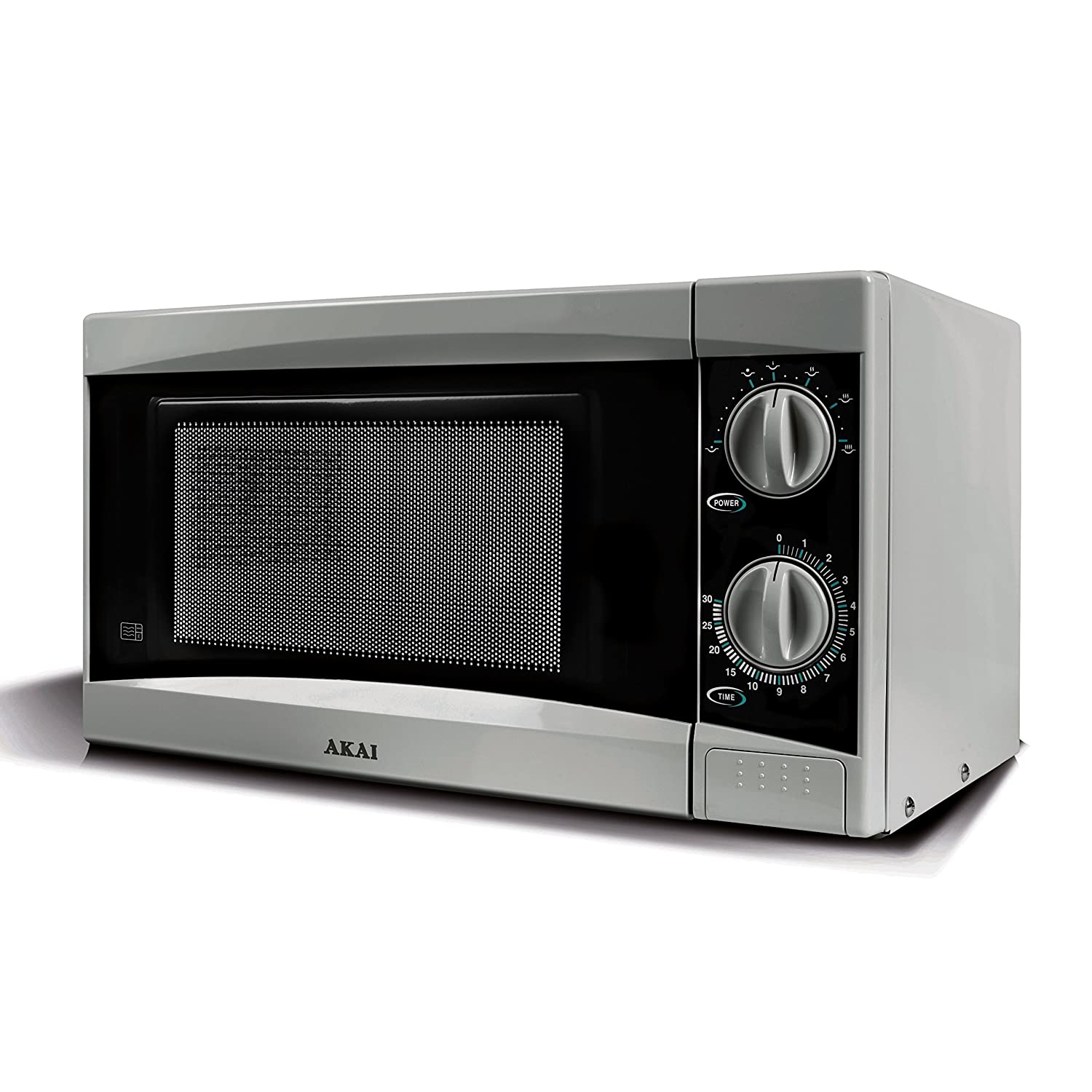 Akai A24001B Manual Solo Microwave with 6 Power Levels, 800 W, 20 Litre, Black