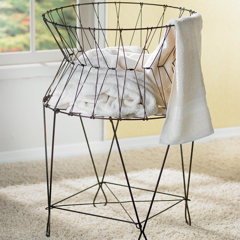 Amazon.com: Vintage Wire Laundry Hamper, Hamper For Laundry: Home ...