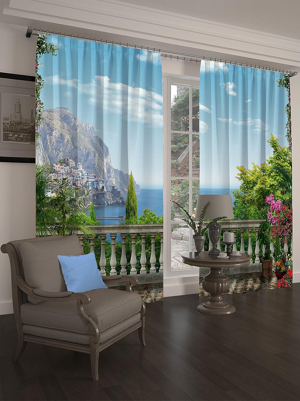 Lemare Vorhang Blickdicht Digitaldruck Monte Carlo 2X 145x260 cm
