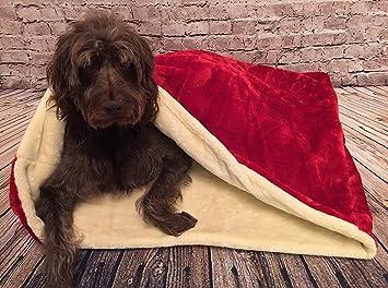 Snuggle saco de dormir/mascotas cama para gatos o perros por Pet Rojo y crema de la Lola: Amazon.es: Productos para mascotas