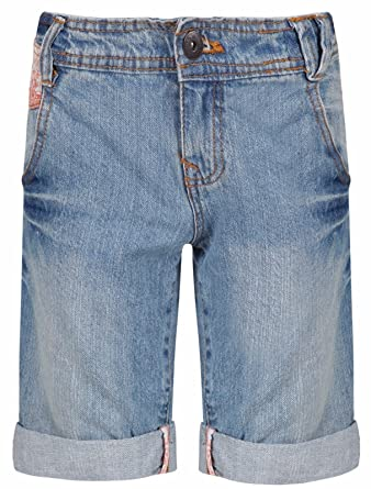 6659852c59a Ex-Store Ages 8-15 Girls Bermuda Jeans Floral Shorts Knee Length Mid Blue  Denim: Amazon.co.uk: Clothing