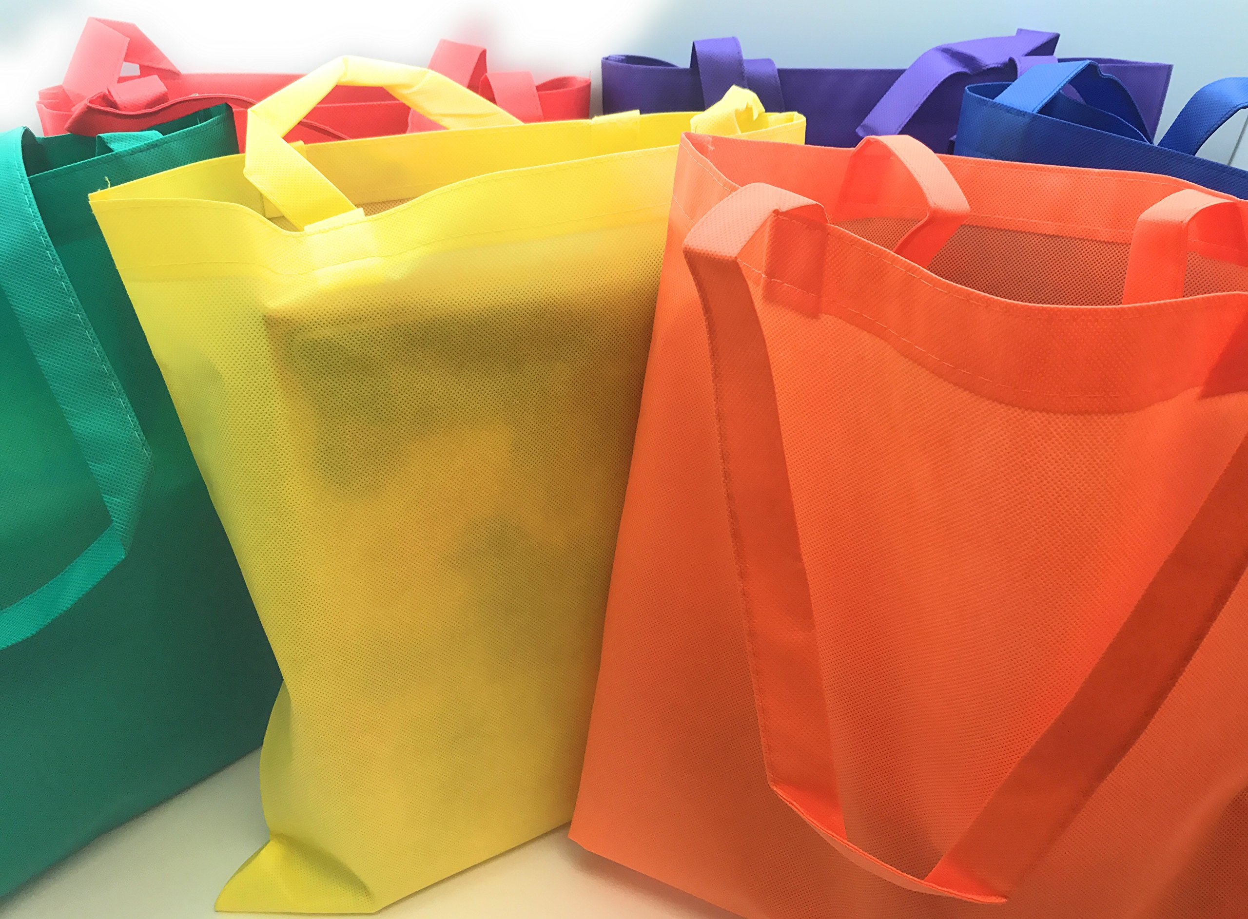Oojami Nonwoven Polyester Tote Bag Assortment - 50 Pieces