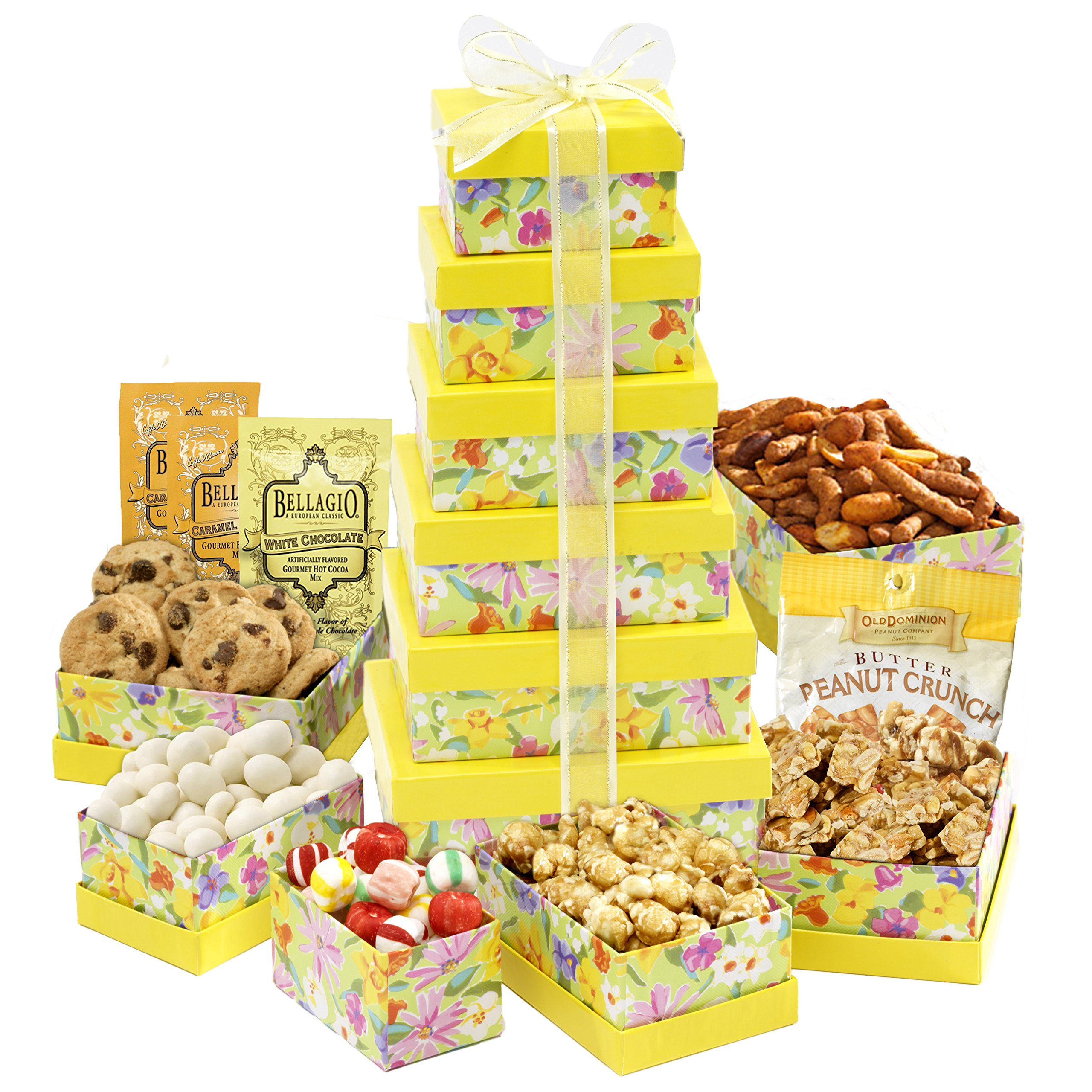 Broadway Basketeers Spring Celebration Gift Tower