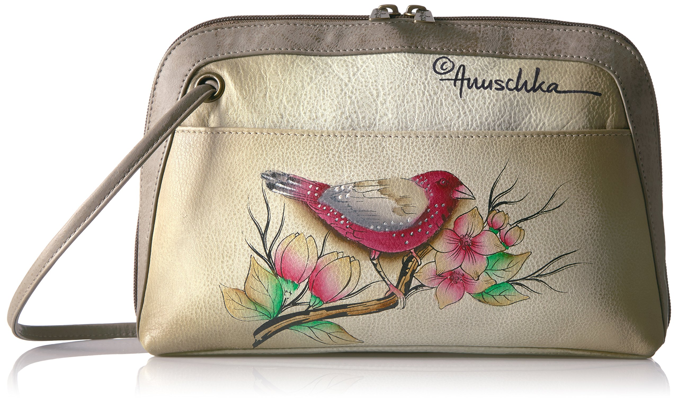 Anuschka Handpainted Leather Small Multi Compartment All-Round Zip, Summer Tryst