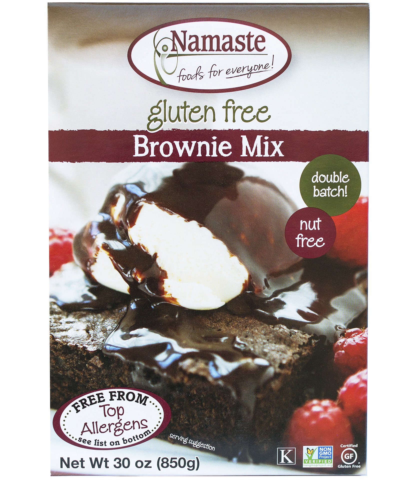 Namaste Foods Brownie Mix, 30 Ounce - 6 per case. by Namaste Foods