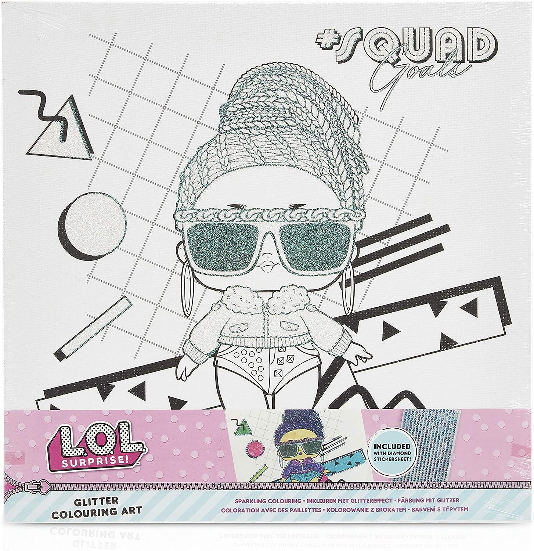 L.O.L. Surprise! Set de Pintura Completo de Las Muñecas LOL Surprise, Kit Manualidades para Niñas Incluye Lienzo y Pegatinas Brillantes, Regalos Originales para Niños Niñas: Amazon.es: Juguetes y juegos