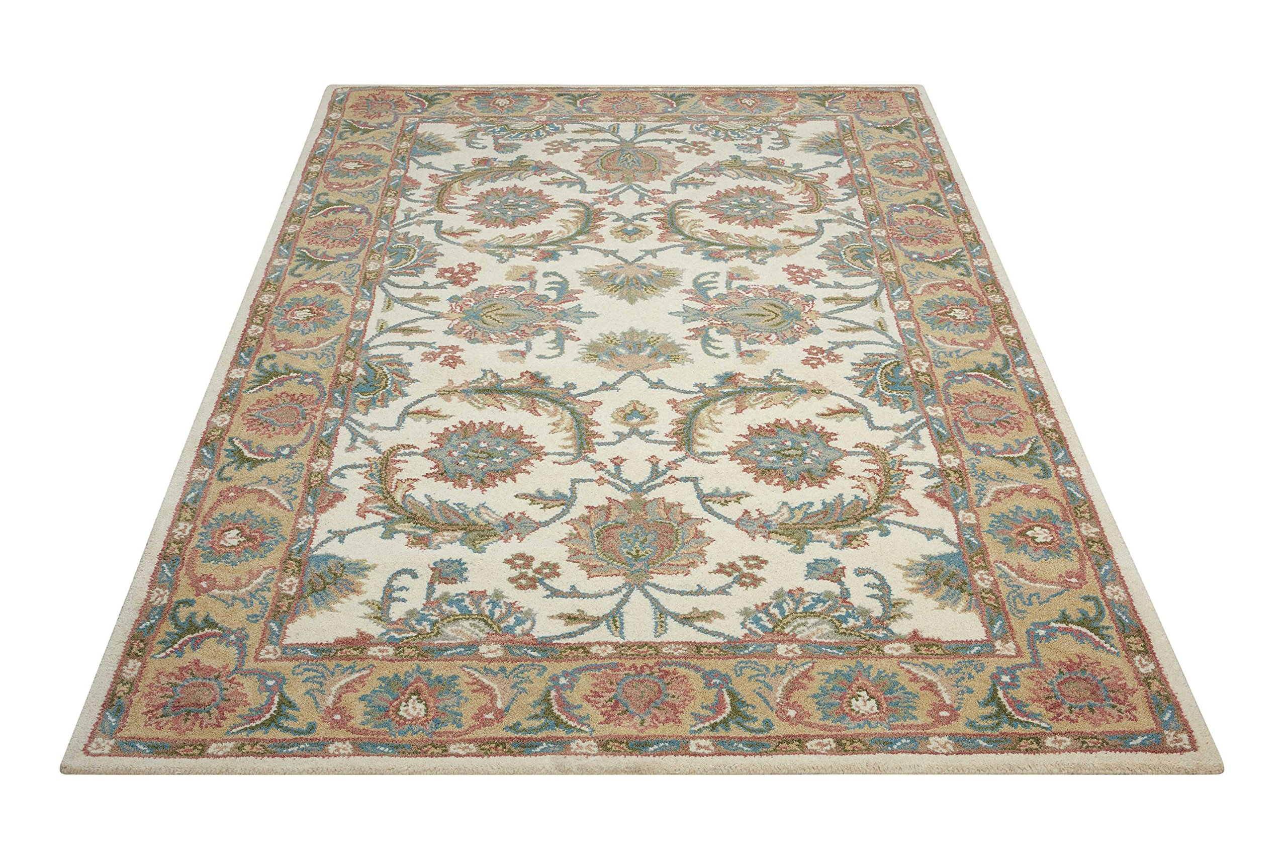Nourison India House (IH05) Ivory/Gold Runner Area Rug, 2-Feet 3-Inches by 7-Feet 6-Inches (2'3'' x 7'6'') by Nourison (Image #3)