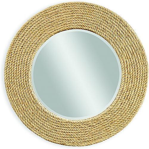 Bassett Mirror Palmer Wall Mirror, Sisal Rope