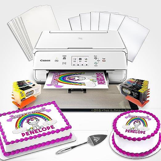 Comestible impresora Bundle wh con cartuchos de limpieza, paleta ...