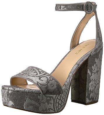 59ecf2a60610 Amazon.com  Nine West Women s KREWL Fabric Heeled Sandal  Shoes
