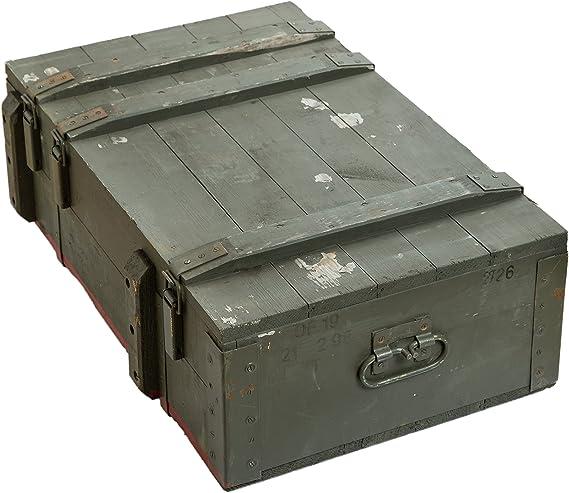 Caja de municiones AD81 de aproximadamente 83 x 53 x 30 cm caja de almacenamiento caja de munición de caja de madera caja de madera Diseño militar de la carcasa de Apple