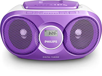 Philips AZ215V CD-Soundmachine (Digital UKW, Audioeingang, 3 Watt, leicht bedienbar) lila