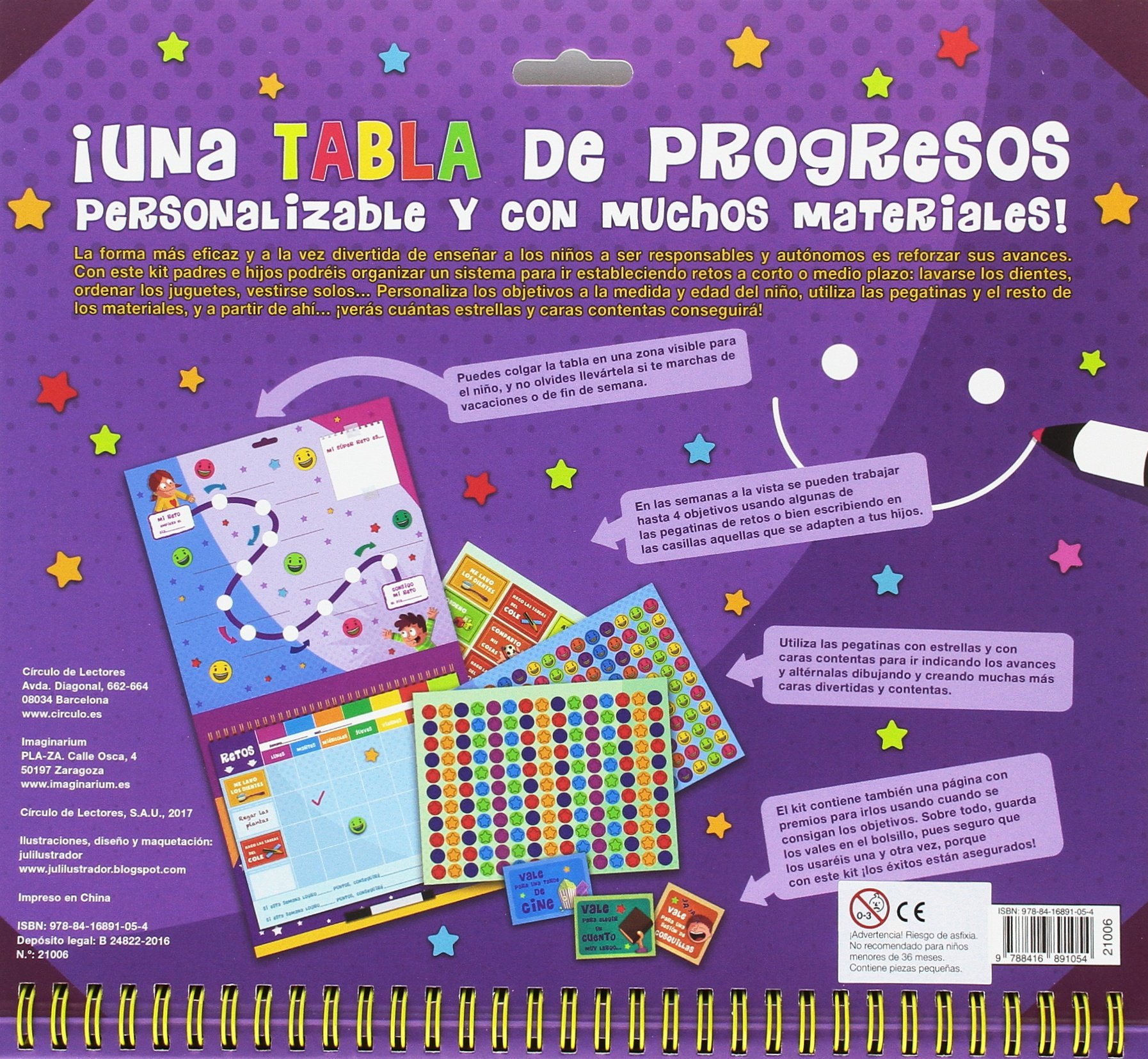 Mi kit tabla de progresos Imaginarium Circulo - Libros CAST ...