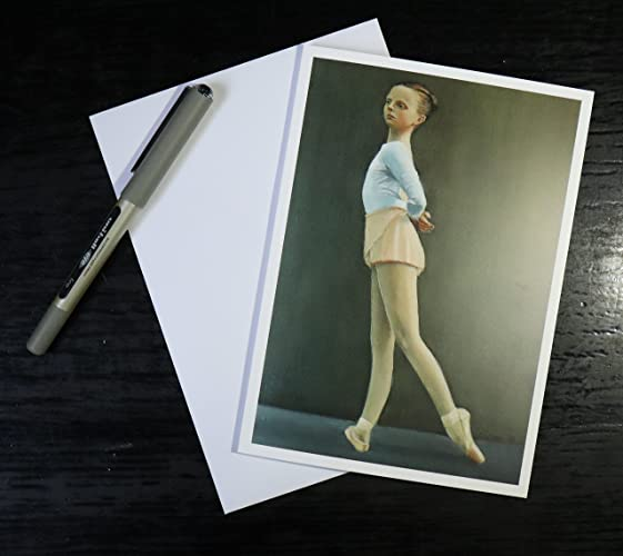 Young Ballerina Blank Greeting Card Artwork Print Birthday Cards Girl Ballet Painting Tutu Shoes Art Prints By UK Artist Jabore Amazoncouk
