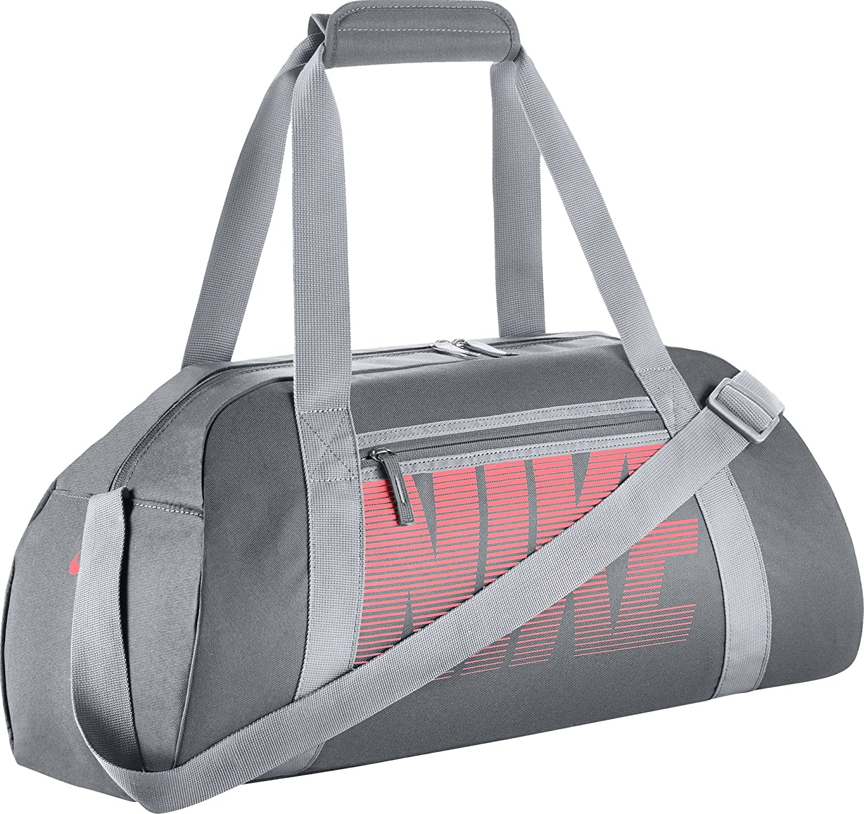513901f94d05 Amazon.com  NIKE New Gym Club Duffel Bag Cool Grey Wolf Grey Lava Glow   Sports   Outdoors