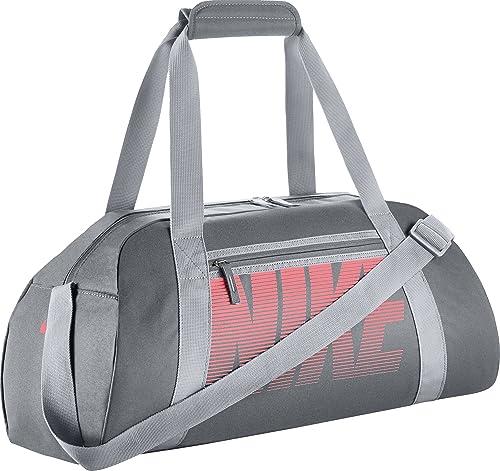 b19efe12c3f87 Amazon.com  NIKE New Gym Club Duffel Bag Cool Grey Wolf Grey Lava Glow   Clothing