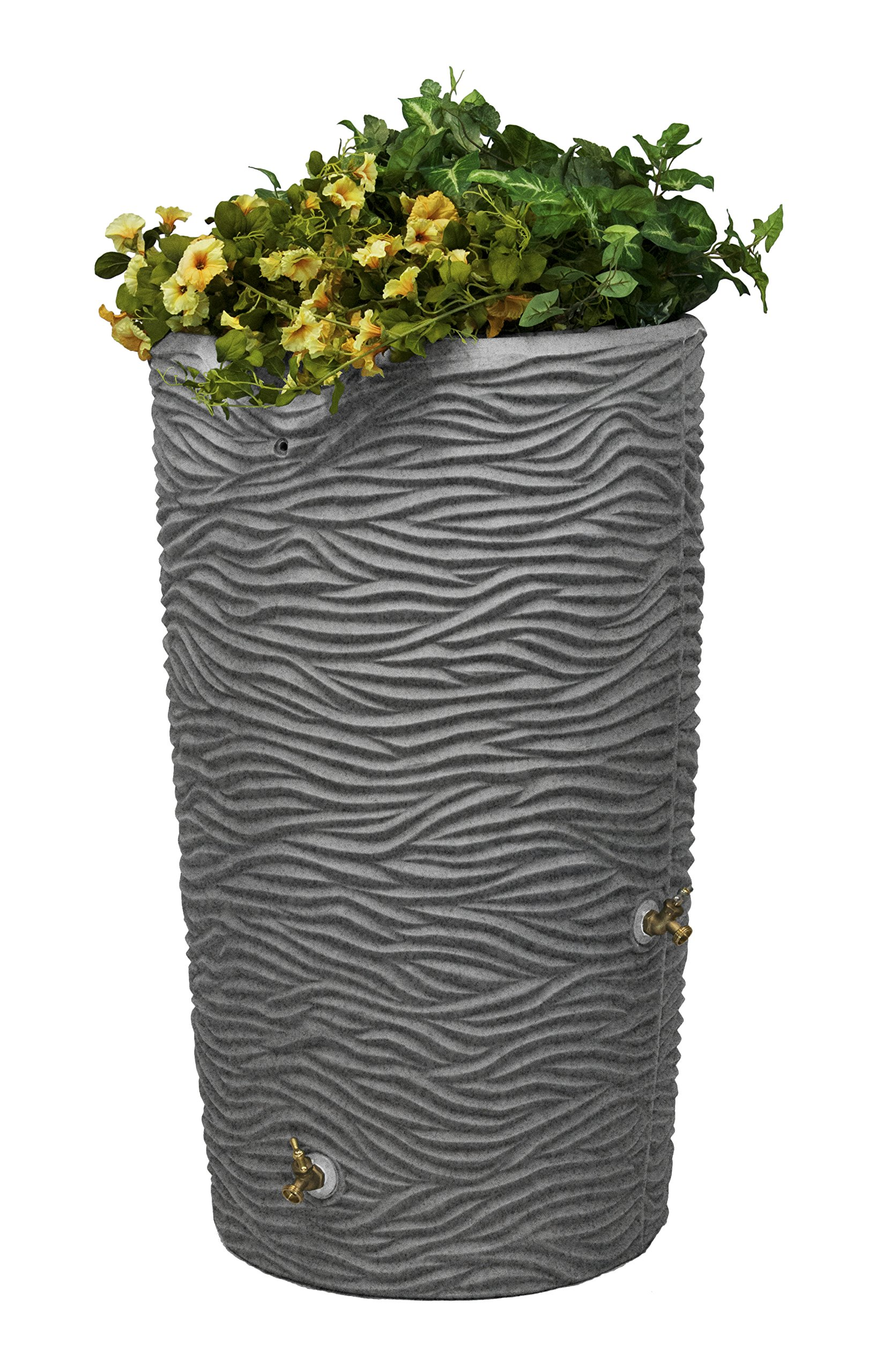 Good Ideas IMP-L65-LIG Impressions Palm Rain Saver, 65-Gallon, Light Granite