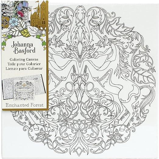 - Amazon.com: Art Alternatives Johanna Basford Enchanted Forest Coloring  Canvas-Unicorn: Arts, Crafts & Sewing