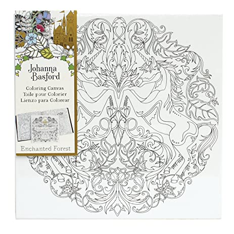 Amazon.com: Johanna Basford Enchanted Forest Coloring Canvas ...