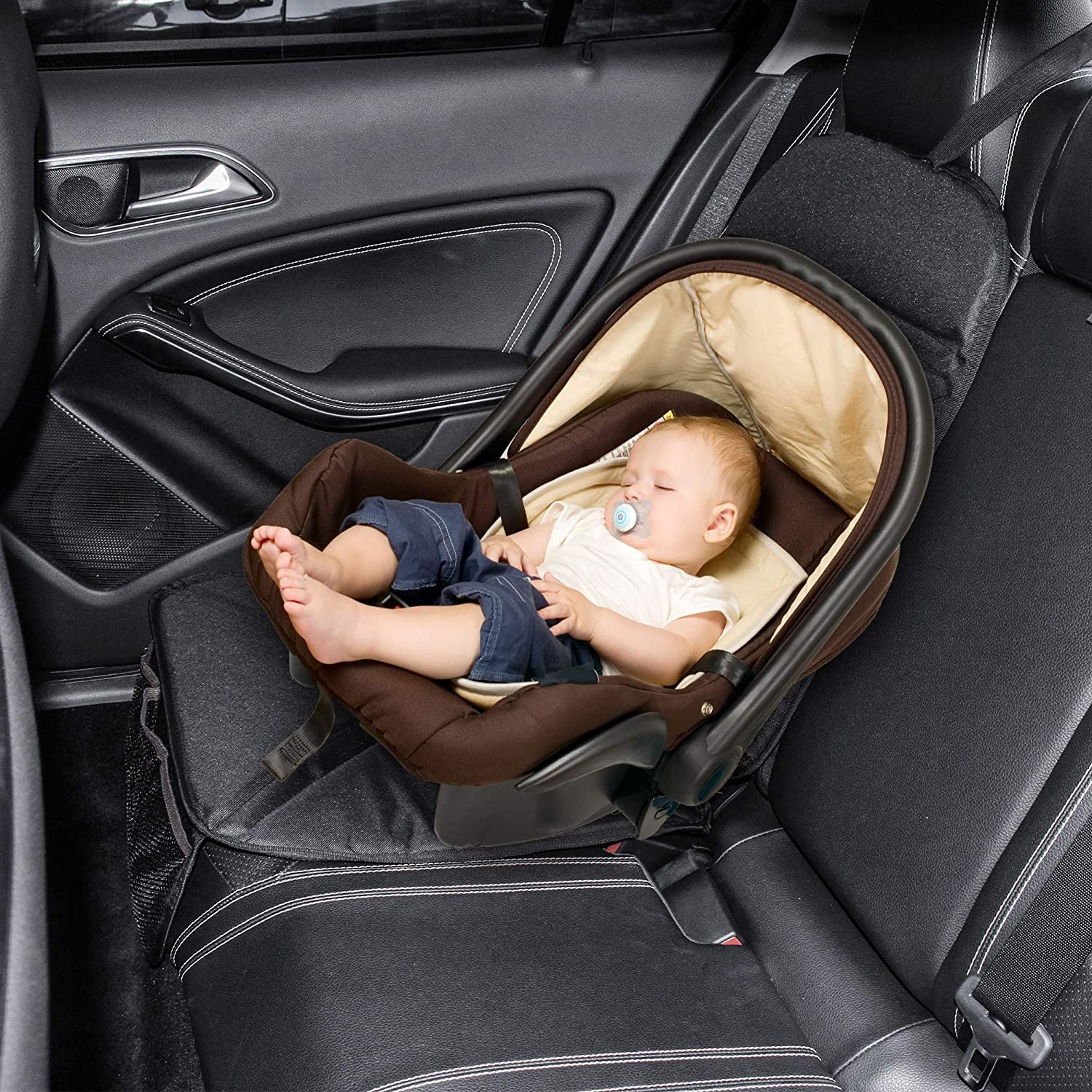 Alfheim Car Seat Protector,Non-Slip/&Durable Water Seat Cover with Storage Pockets for Baby,Children or Pets,Baby and Toddler Car Seats/&Heavy Duty Stain Protection/&Universal Size/&Resistance,Black