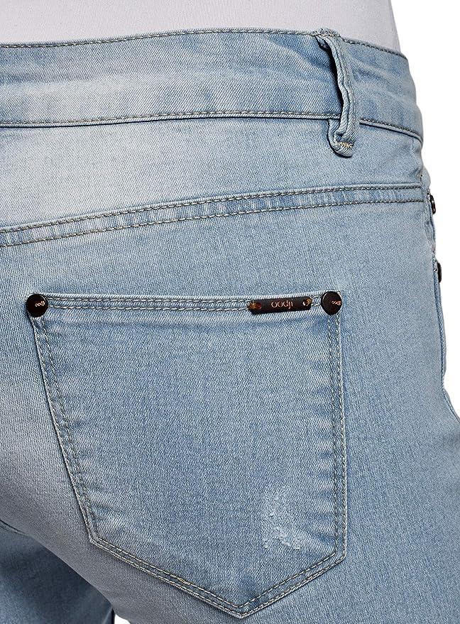 oodji Ultra Femme Short Long en Jean  Amazon.fr  Vêtements et accessoires ac7b919607d