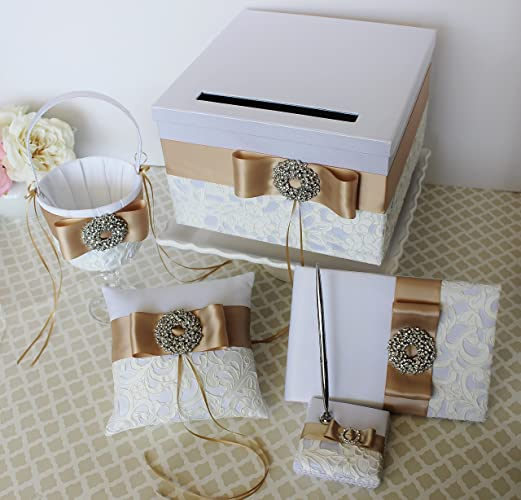 Amazoncom Wedding Card Box Money gift Holder Set with Guest Book