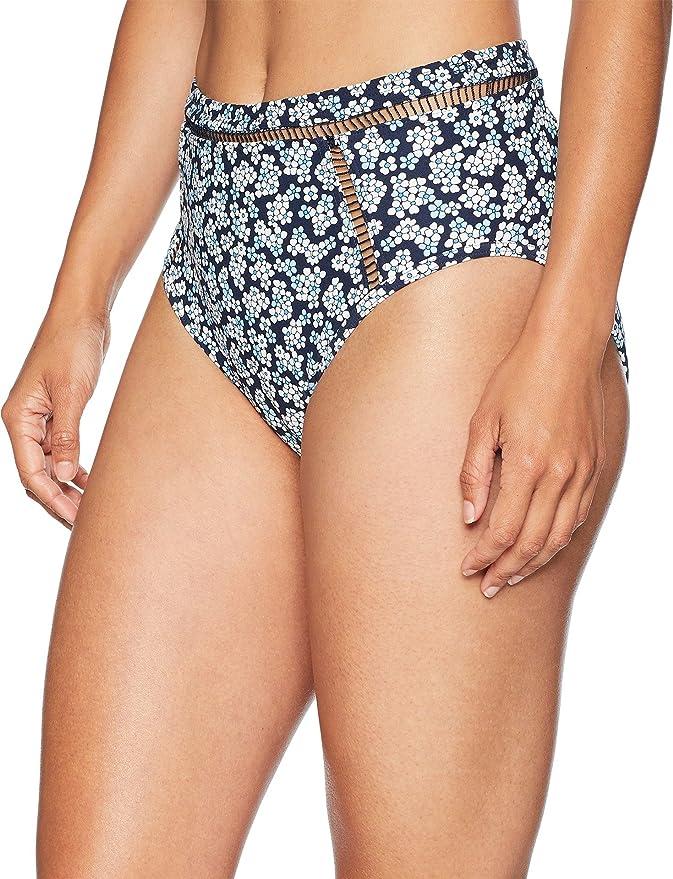 86e645919926b Amazon.com: MICHAEL Michael Kors Women's High-Waisted Bikini Bottoms w/Ladder  Insert: Clothing