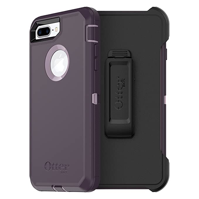 OtterBox DEFENDER SERIES Case for iPhone 8 Plus & iPhone 7 Plus (ONLY) - Frustration Free Packaging - PURPLE NEBULA (WINSOME ORCHID/NIGHT PURPLE)