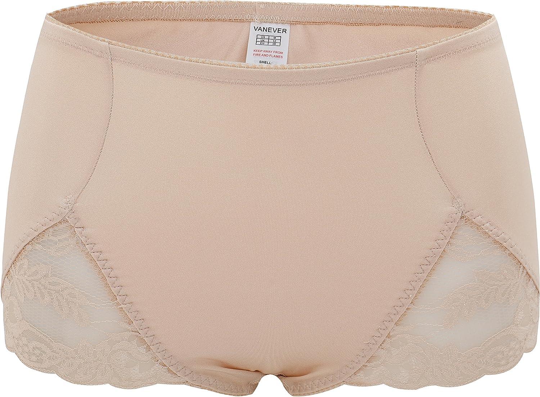 VANEVER Womens Control Briefs Light Control Panties Knickers Lace Shapewear High Waist Body Shaper Underwear