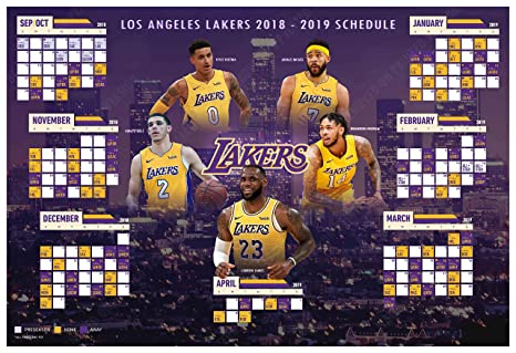 6e89c8c9dfbe Image Unavailable. Image not available for. Color  PosterWarehouse2017 Los  Angeles Lakers 2018-2019 ...
