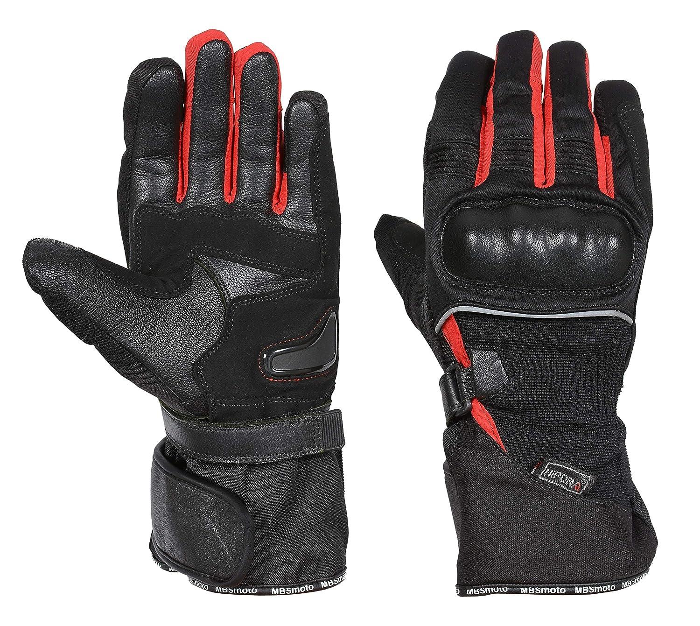 XL, Black MBSmoto MBG39 Motorcycle Motorbike Winter Hipora Waterproof Textile Touring Gloves