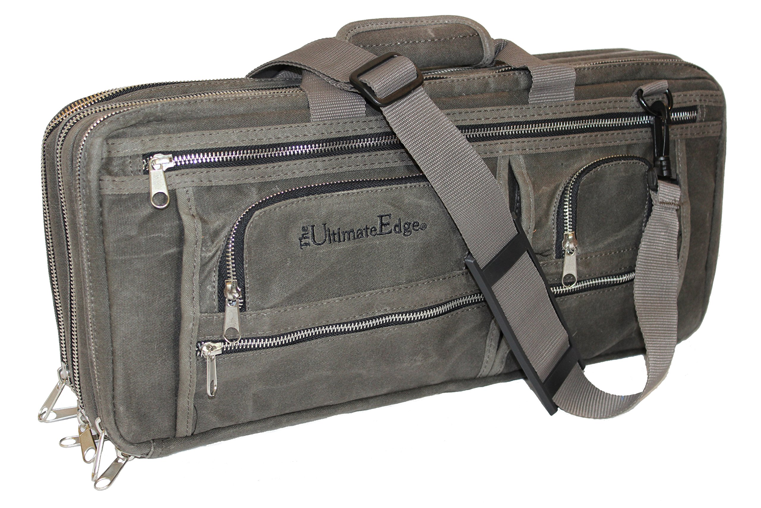 The Ultimate Edge 2001-EDOWS (OIL WAXED CANVAS) Knife Case, Smoke by The Ultimate Edge