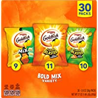 Pepperidge Farm Goldfish Crackers Bold Mix with Cheesy Goldfish Mix, Flavor Blasted Xtra Cheddar and Flavor Blasted…