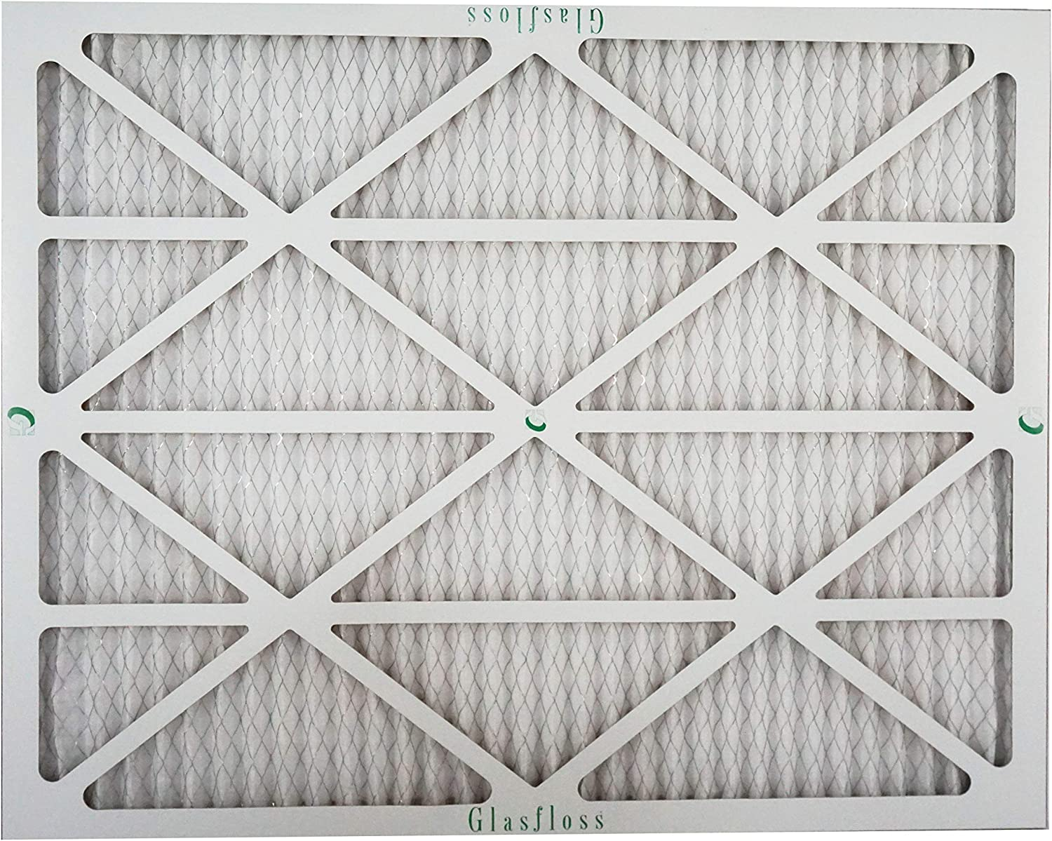 Glasfloss 16x25x1 MERV 10 Pleated AC Furnace Filter- Pack of 12 Proudly Made In The USA.