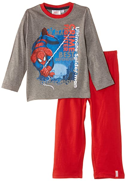 Marvel NH2019 - Pijama de manga larga para niños, color blau (medium grey melange