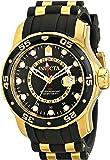 Invicta Men's Pro Diver Quartz Watch with Black Dial Analogue Display and Multicolour PU Strap 6991