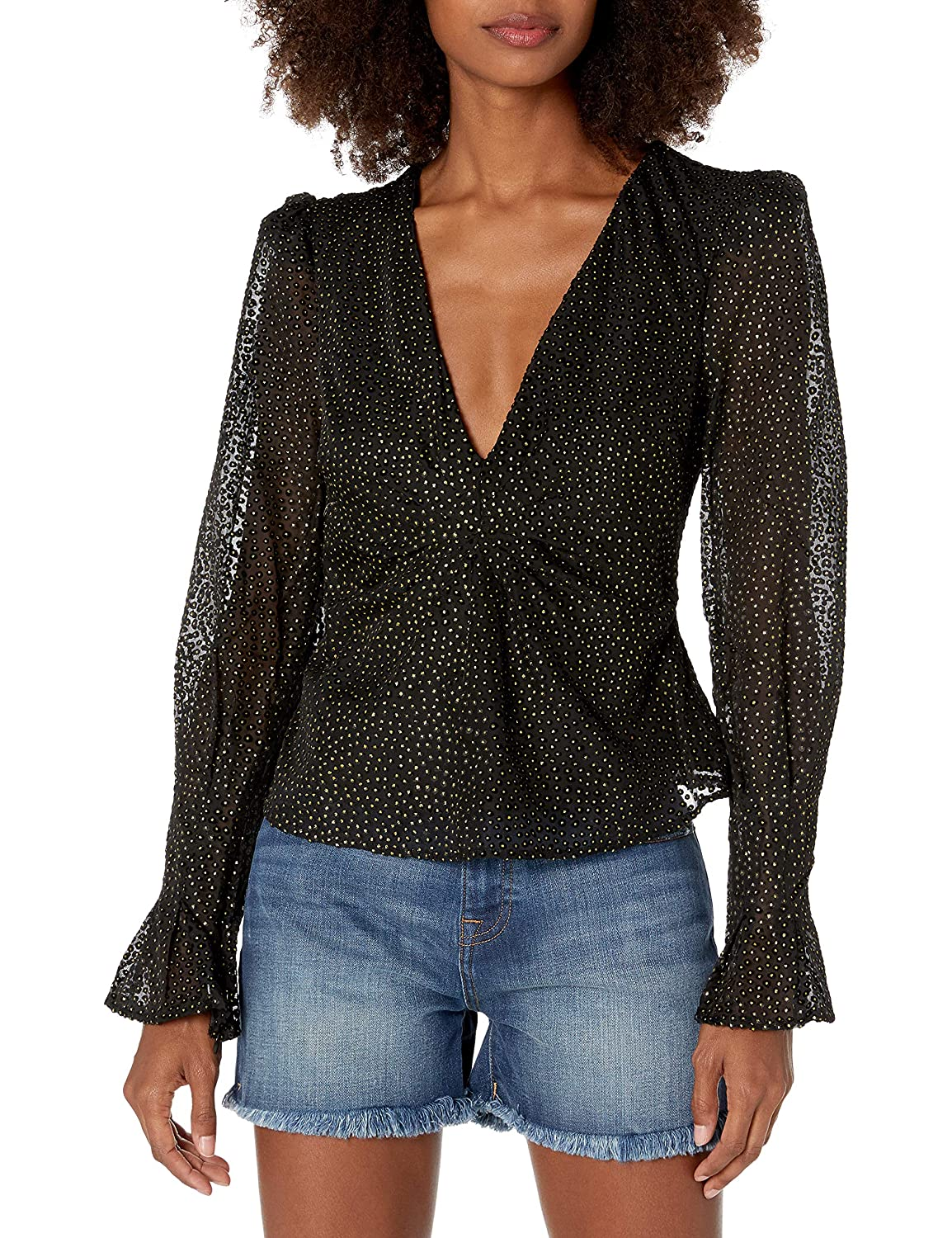 House of Harlow 1960 Womens Anisa Blouse