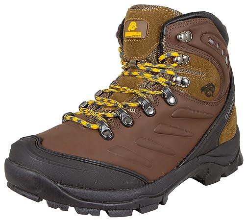 GUGGEN Mountain Gli Uomini Scarpe da Trekking Scarpe da Trekking Alpini Si  Stivali Scarponi da Montagna Impermeabili M013  Amazon.it  Scarpe e borse 00d755bdc20