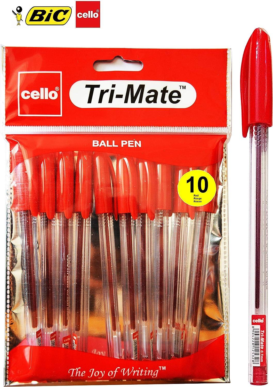 ORIGINAL BIC CELLO TRIJET  BALLPOINT PENS BALL POINT BIROS BLACK,BLUE,RED