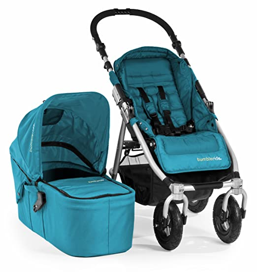 Bumbleride Indie 4 Urban All Terrain Stroller with Bassinet, Aquamarine