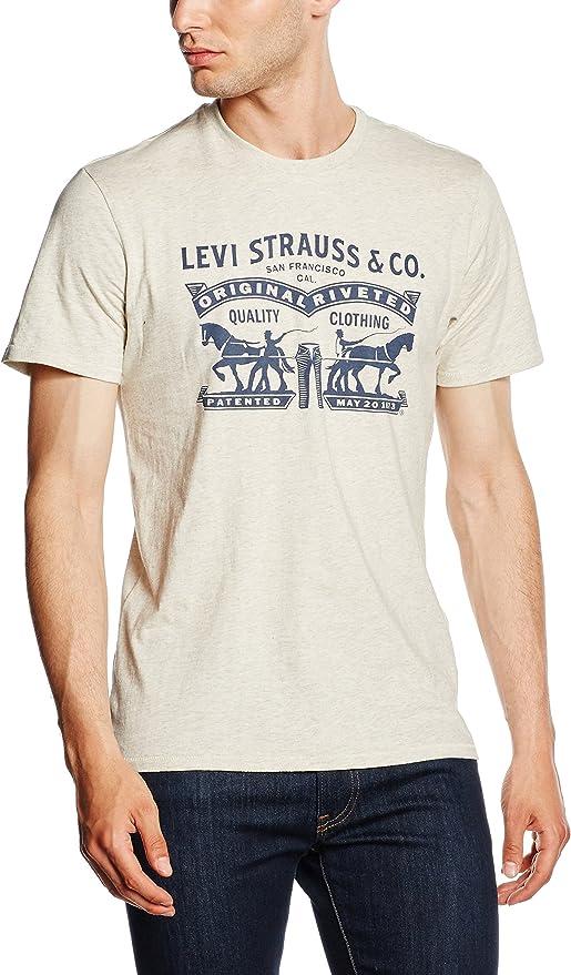 Levis 2-Horse Graphic tee Camiseta para Hombre: Amazon.es: Ropa y accesorios