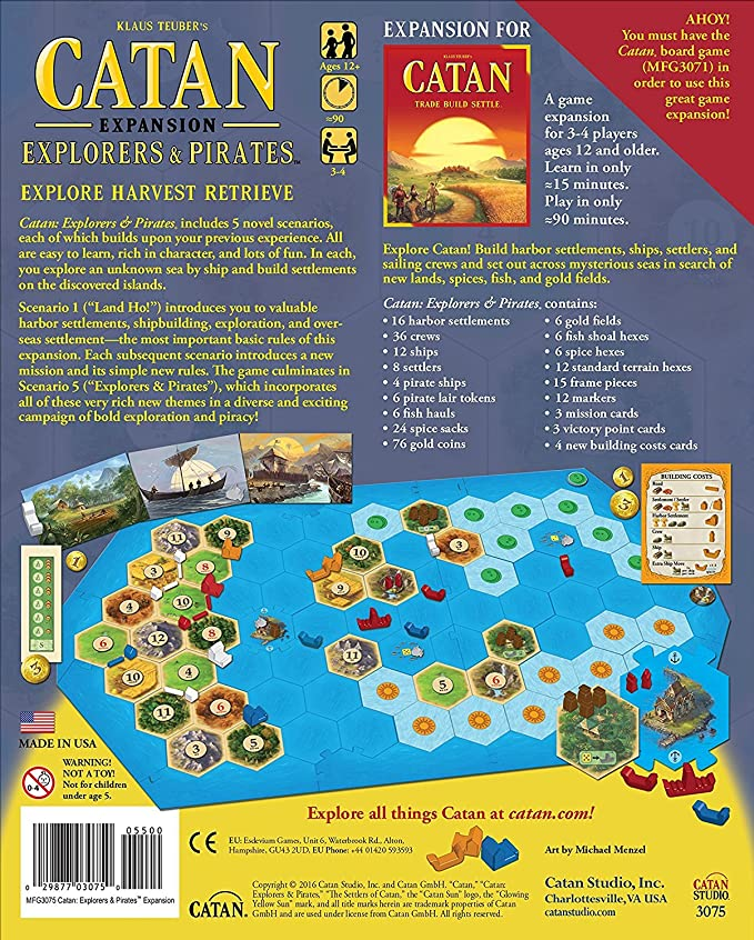 Mayfair Games Catan Expansion Explorers and Pirates Board Game: Amazon.es: Juguetes y juegos