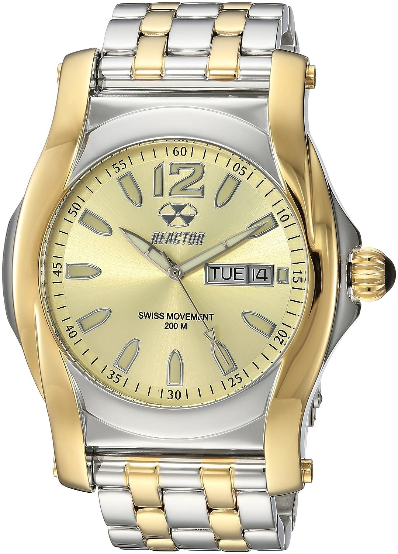 Reactor ' Curie ' Swiss QuartzステンレススチールDress Watch , Color : Two Tone ( Model : 98128 ) B074WYWJN2