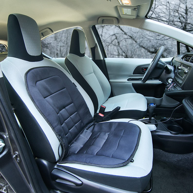 Wagan IN9738 Black 12V Heated Seat Cushion Lastest Version