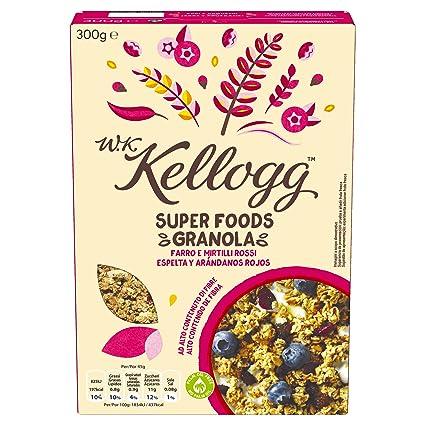 Kelloggs Cereales Super Foods espelta y arándanos rojos - 300 gr